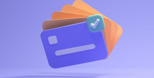 3d credit card icon for contactless payments, online payment concept. 3d render illustration